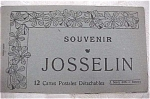 Old Souvenir Postcard Book - Josselin
