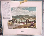 Click here to enlarge image and see more about item e00083: 1954 Mills Restaurant Print Landscape Calendar