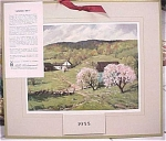 Click here to enlarge image and see more about item e00084: 1955 Mills Restaurant Print Farm Scene Calendar