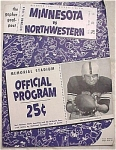 1954 Minnesota VS Northwestern Football Program