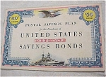 Click here to enlarge image and see more about item e00102: 1940s Defence Stamp Savings Bond Book