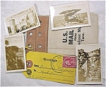 Click here to enlarge image and see more about item e00107: 1930s Miniature Photos in Mail Pouch.
