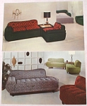 Click here to enlarge image and see more about item e00146: ''Modern Furniture'' Advertising Postcard Pair