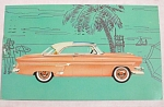 Click here to enlarge image and see more about item e00148: 1954 Ford Crestline Skyliner Car Postcard