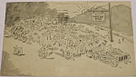 Click here to enlarge image and see more about item e00151: 1953 Handlebar Ranch Hayride Postcard