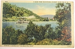 Click here to enlarge image and see more about item e00153: 1954 Steamer Boat on Ohio River Wheeling WV Postcard