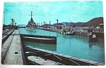 Click here to enlarge image and see more about item e00155: 1952 Panama Canal Postcard