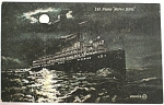 Click here to enlarge image and see more about item e00158: 1907 D&B Steamer ''Western States'' at Night Postcard
