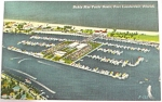 Click here to enlarge image and see more about item e00162: 1956 Ft Lauderdale Florida Marina Postcard