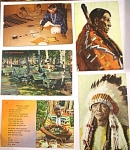 Click here to enlarge image and see more about item e00168: Five Native American Postcards