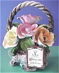 Click here to enlarge image and see more about item f00007: Capo di Monte Flower Basket