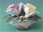 Click here to enlarge image and see more about item f00035: Capo di Monte Small Flower Bowl