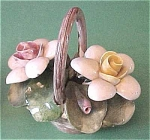 Click here to enlarge image and see more about item f00048: Capo di Monte Small Flower Basket