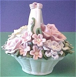 Click to view larger image of Porcelain Flower Basket (Image1)