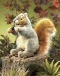 Click here to enlarge image and see more about item f0046: Folkmanis® Hand Puppet Grey Squirrel