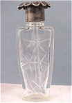 Click here to enlarge image and see more about item g00328: 1920s La Castillere Etched Perfume