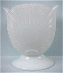 Click to view larger image of Light Blue Glass Shell Vase (Image1)