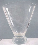 Click here to enlarge image and see more about item g00375: Handworked Clear Glass Vase