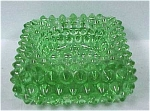 Green Hobnail Square Salt
