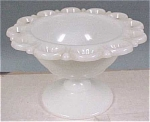 Click to view larger image of Anchor Glass Milk White Lace Edged Bowl (Image1)