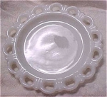 Click here to enlarge image and see more about item g00417: Anchor Glass Milk White Plate