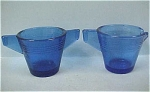 Click here to enlarge image and see more about item g00448: Cobalt Blue Children's Glass Cream & Sugar Set
