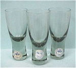 Click here to enlarge image and see more about item g00457: Three Handworked Shot / Cordial Glasses