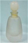 Miniature Frosted Glass Perfume Bottle
