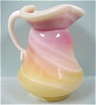 Pastel Swirl Blown Glass Pitcher