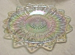 1970s Glass Plate, carnival finish