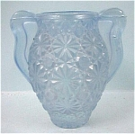 Click here to enlarge image and see more about item g00533: Blue Glass Daisy ButtonToothpick