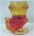 Click here to enlarge image and see more about item g00555: Amberina Bird Base Toothpick Holder