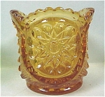 Click here to enlarge image and see more about item g00568: Amber Glass Toothpick Holder