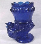 Click here to enlarge image and see more about item g00592: Boyd Cobalt Bird Base Toothpick Holder