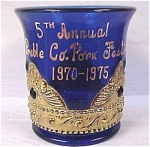 Click here to enlarge image and see more about item g00601: 1975 Cobalt Toothpick Holder