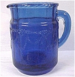 Click here to enlarge image and see more about item g00603: Child's Toy Blue Glass Pitcher