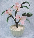 Click here to enlarge image and see more about item g00627: Glass Flower Tree