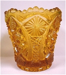 Click here to enlarge image and see more about item g00710: Imperial Octagon Optic Amber Glass Toothpick