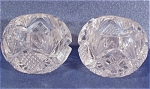 Clear Glass Salt Dip Pair