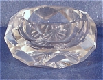 Click here to enlarge image and see more about item g00806: Clear Glass Pressed Faceted Salt Dip
