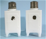 GE Refrigerator Glass Salt and Pepper Shakers