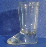 Glass Candy Container Boot