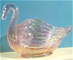 Click here to enlarge image and see more about item g00870: Imperial Glass 1970s/1980s Swan Dish