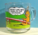 Click here to enlarge image and see more about item g00882: 1980 McDonalds Garfield Anchor Glass Mug