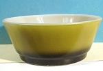 Click here to enlarge image and see more about item g00884: Avocado Green Fire King Anchor Hocking Bowl
