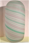 Large Satin Swirl Art Glass Vase
