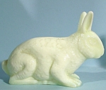 Pale Green Opaque Glass Rabbit