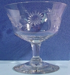 Click here to enlarge image and see more about item g00965: Six Etched Crystal Sherbet Size Stem