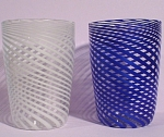 Click to view larger image of Beautiful Delicate Blown Glass Juice Tumbler Pair (Image1)