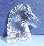 Click here to enlarge image and see more about item g00990: Glass Horse Head Candle Holder